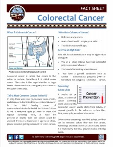 Colorectal Cancer Fact Sheet (2)